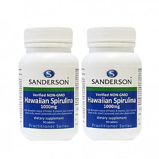 [샌더슨] Non-GMO 하와이언 스피룰리나 1000mg 90정 2개