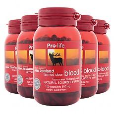 [프로라이프] 녹혈 500mg 100캡슐 6개
