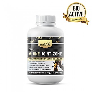 [유비바이오] 브이원 조인트 존(녹용,그린머슬,글루코사민,상어연골) 360cap 무릎관절영양제 1개