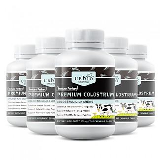 [유비바이오] 초유 플러스 (딸기맛) / IgG 20~25% (100% 뉴질랜드) 500mg 360정 6개