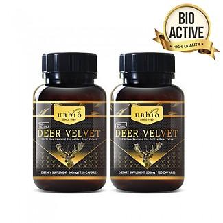 [유비바이오] 뉴질랜드 녹용 500mg 120캡슐 2개(저분자 녹용)