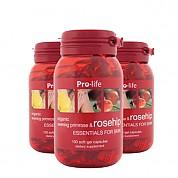 [프로라이프] 유기농 달맞이꽃종자유 함유 로즈힙200캡슐 3개