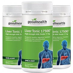 [굿헬스] 리버토닉(고함량 밀크시슬,숙취해소,간건강,간보호) 17500mg 90캡슐 3개