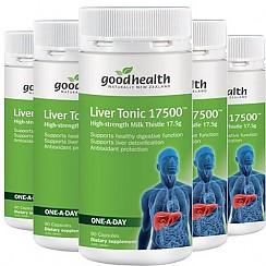 [굿헬스] 리버토닉(고함량 밀크시슬,숙취해소,간건강,간보호) 17500mg 90캡슐 6개