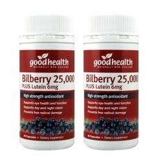 [굿헬스] 빌베리(눈건강) 25000+ 루테인 60캡슐 2개 (눈건강)