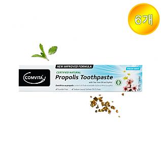 [콤비타] 프로폴리스치약 Natural Toothpaste (티트리오일&자일리톨 함유)  6개