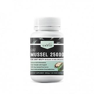 [유비바이오] 뉴질랜드 초록입홍합 /그린머슬 25000mg 120캡슐 1개