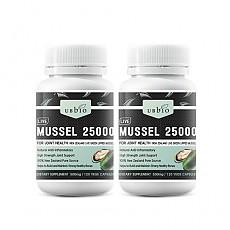 [유비바이오] 뉴질랜드 초록입홍합 /그린머슬 25000mg 120캡슐 2개