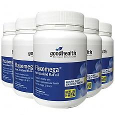 [굿헬스] 플랙스 오메가(아마씨유) 300캡슐 6개 (식물성오메가3)