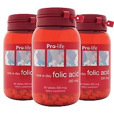 [프로라이프]엽산 Folic acid 60tab 3개