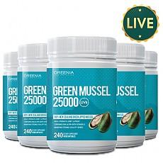 [그리니아] 그린머슬25000 240캡슐 (100% 뉴질랜드 라이브 초록입홍합) 6개