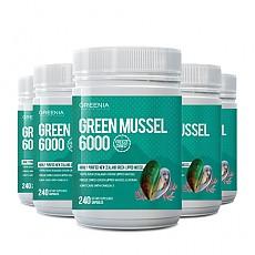 [그리니아] 그린머슬 6000 / 100% 뉴질랜드 초록입홍합 240 캡슐 6개