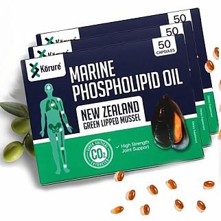 [코루레] 뉴질랜드 초록입 홍합 오일 50정 3개(관절강화)