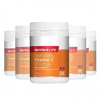 [뉴트라라이프] 원어데이 비타민C 1200mg 120정 면역력증진(고함량) 6개