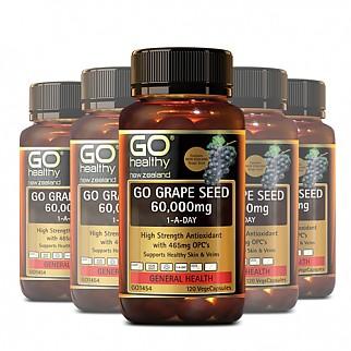 [고헬씨] 그레이프씨드 60,000(포도씨 추출물,항산화) 120캡슐 6개