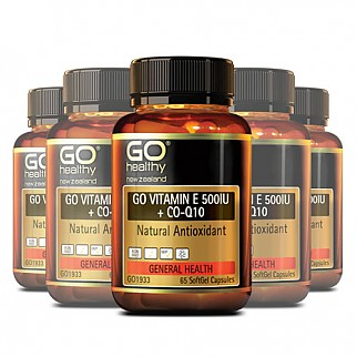 [고헬씨] 비타민E 500IU + 코엔자임 큐텐 130 소프트젤 캡슐 6개