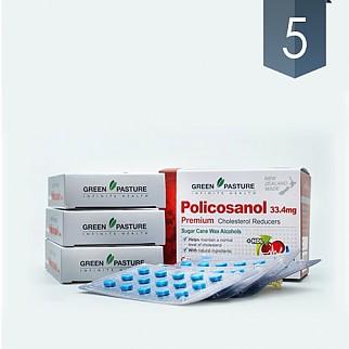 [그린파스쳐] 폴리코사놀(혈행도우미) 33.4mg 180정 5개