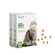 [펫아일랜드] ACTIVE MOBILITY 고양이/반려묘 면역&관절영양제 50정 2개