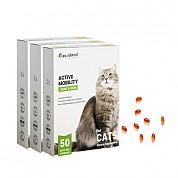 [펫아일랜드] ACTIVE MOBILITY 고양이/반려묘 면역&관절영양제 50정 3개
