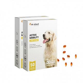 [펫아일랜드] ACTIVE MOBILITY 강아지 면역&관절영양제 50정 2개