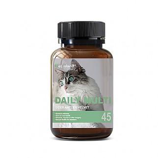 [펫 아일랜드] 데일리 멀티 비타민 (휴먼 그레이드/고양이 영양제) 45캡슐 1개
