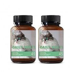 [펫 아일랜드] 데일리 멀티 비타민 (휴먼 그레이드/고양이 영양제) 45캡슐 2개