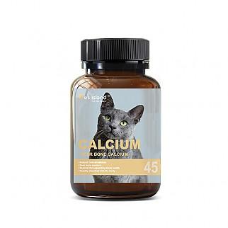 [펫 아일랜드] 캣 칼슘 (휴먼 그레이드/고양이 영양제) DEER BONE 45캡슐 1개