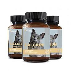 [펫 아일랜드] 캣 칼슘 (휴먼 그레이드/고양이 영양제) DEER BONE 45캡슐 3개