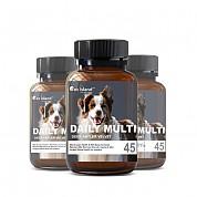 [펫 아일랜드] 데일리 멀티 비타민 (휴먼 그레이드/강아지 영양제) 45캡슐 3개