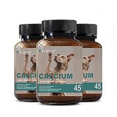 [펫 아일랜드] 독 칼슘 (휴먼 그레이드/강아지 영양제) DEER BONE 45캡슐 3개