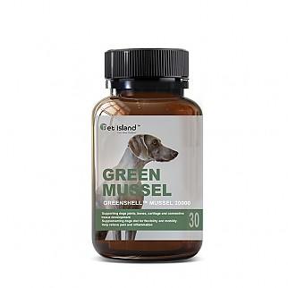[펫 아일랜드] 초록잎홍합 그린머슬(휴먼그레이드/강아지 영양제) 관절건강 30캡슐 1개