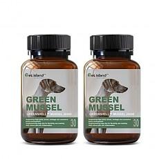 [펫 아일랜드] 초록잎홍합 그린머슬(휴먼그레이드/강아지 영양제) 관절건강 30캡슐 2개