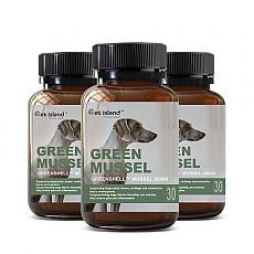 [펫 아일랜드] 초록잎홍합 그린머슬(휴먼그레이드/강아지 영양제) 관절건강 30캡슐 3개