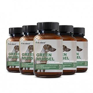 [펫 아일랜드] 초록잎홍합 그린머슬(휴먼그레이드/강아지 영양제) 관절건강 30캡슐 6개