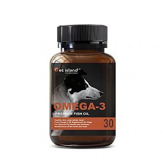 [펫 아일랜드] 오메가3 (DHA& EPA 강아지 영양제) 피부,피모 30캡슐 1개