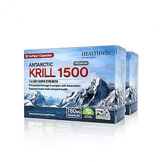 [헬스윈] 남극 크릴오일 1500 30 캡슐 2개 (함량업!! 인지질 52%)
