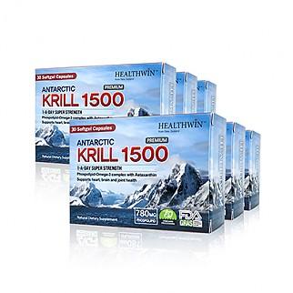 [헬스윈] 남극 크릴오일 1500 30 캡슐 6개 (함량업!! 인지질 52%)