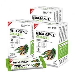 [헬스윈] 메가머슬 그래뉼 (초록입홍합 환100%) 75000mg 30포 3박스