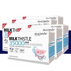 [헬스윈] 밀크씨슬 35000 Plus 폴리코사놀 60캡슐 6개